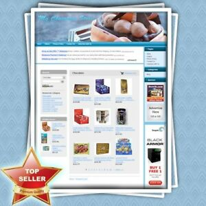 Chocolate Store Best Ecommerce Dropship Website Outstanding Income Potential