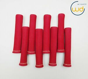 Red 8pcs 1200 Spark Plug Wire Boots Heat Shield Protector Sleeve Sbc Bbc Usps