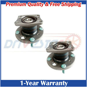Set 2 New Rear Left And Right Wheel Hub Bearings For Ford Fiesta