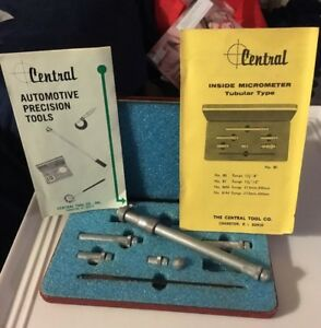 Central Tool Usa No 80 8 Tubular Inside Micrometer Set Machinist Tool Box Find