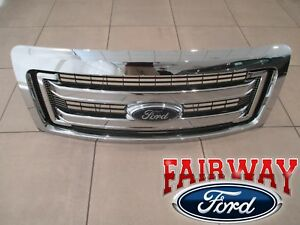 09 Thru 14 Ford F150 Oem Genuine Ford 2 Bar Chrome Grille Grill W emblem New