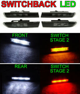Switchback Amber white Led Smoke 4 Pieces Side Marker Lights For 04 08 Acura Tl