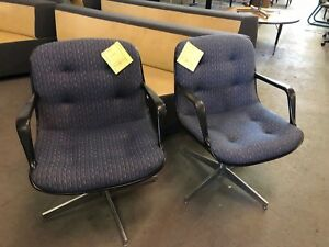 Lot Of 6 Vintage Swivel Guest side Chairs By Steelcase Model 451