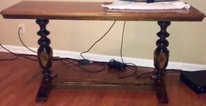 Antique Library Sofa Ornate Dbl Trestle Table 1800 S Rare Style Jacobean