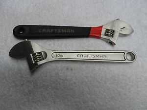 Craftsman 10 Professional Adjustable Wrench Set Usa Part 44604 44168