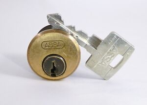 Assa Twin 6000 High Security Mortise rim Cylinder 1 Key W Gin Bottle Spools c