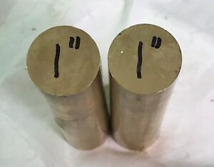 2 1 x 11 1 2 Long brass Alloy C360 Solid round Bar H2