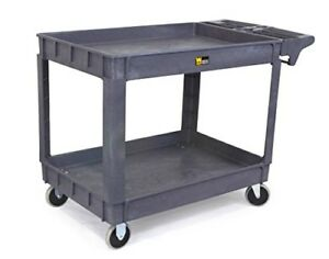 Rolling Utility Cart Shop Service Carts Plastic Garage Black Tool 500lb Shipping