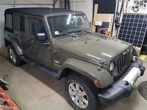 2015 Oem Jeep Wrangler Unlimited Sahara Hood Take Off