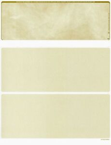 2500 Blank Business Payroll Check Paper Stock Check On Top Marble Gold
