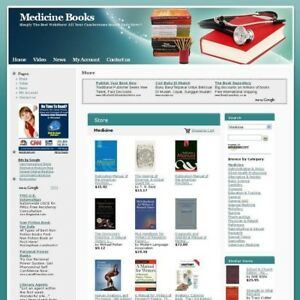 Established Online Medicine Books Business Website For Sale Free Domain Name