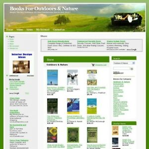 Hot Online Income Outdoors Nature Book Business Website For Sale Free Domain