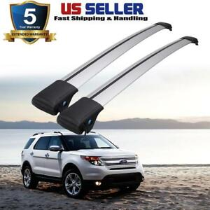 Car Top Roof Rails Rack Cross Bars Kit Bike Carrier For 2011 2015 Ford Explorer