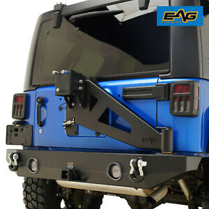 Eag 07 18 Jeep Wrangler Jk Led Rear Bumper With Tire Carrier Linkage D ring
