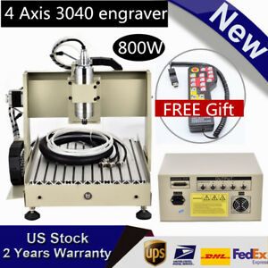 Cnc 3040 800w 4axis 3d Cutting Machine Wood Engraver Router With Mach3