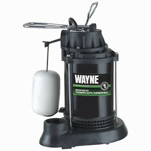 Submersible Sump Pump With Vertical Switch Thermoplastic 1 3 hp Motor