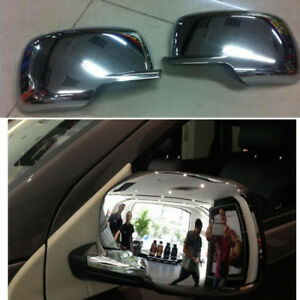 Fit For 2009 2018 Dodge Journey Chrome Door Side Rear View Mirror Cover Trim 2pc
