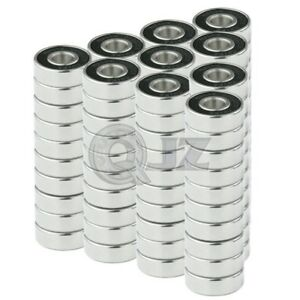 100x 608 2rs Ball Bearing Roller Skate Board Long Board Inline Stainless Steel