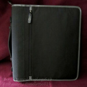 Franklin Covey Large 3 ring Binder Zipping Planner Retired Nylon Organizer