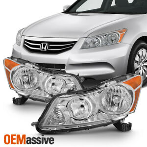 Fit 2008 2012 Honda Accord 4 Door Sedan Headlights L R Lamp Replacement 08 12