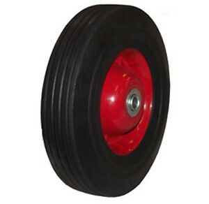 2pc 10 Inch Solid Rubber Dolly Wheels Tire Rim Wheel Hard Heavy Duty Cart