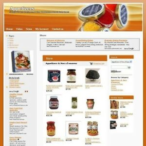 Established Appetizer Online Business Website For Sale Free Domain Name