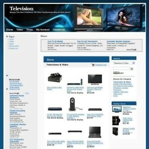 Established Television Plasma Online Business Website For Sale Free Domain Name