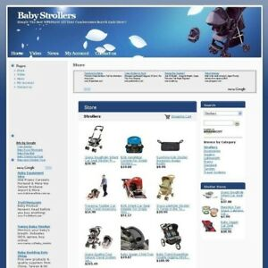 Established Online Baby Strollers Business Website For Sale Free Domain Name