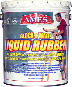 Block Wall Liquid Rubber Coating White 5 gals