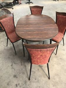 Awesome Mid Century Dining Table 4 Chairs By Daystrom