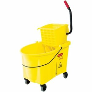 Mopping System Bucket And Side press Wringer Rubbermaid Commercial Wavebrake