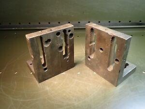 2 Piece Set Of 5 3 4 X 5 X 4 Slotted Right Angle Mill Set up Fixture Plates