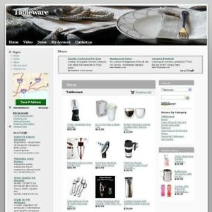 Established Tableware Affiliate Online Business Website For Sale Work At Home