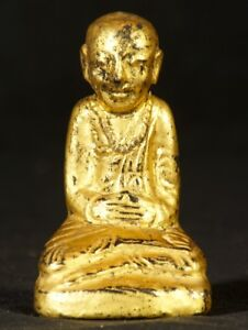 19th Century Small Antique Monk Statue From Burma Antique Buddha Statues