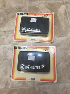 2 Vintage Nos Kc Hilites 7 Rectangular Fog Light Covers Old School Off Road