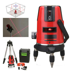 5 Lines 6 Points Professional Waterproof Laser Level Red Automatic Level 360