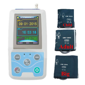 24hours Record Ambulatory Blood Pressure Monitor Holter Abpm2 Pc Softwar 3cuffs