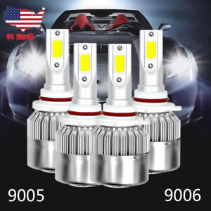 4pcs 9005 9006 Combo Total 2600w 390000lm Led Headlight Kit High Low Beam 6000k
