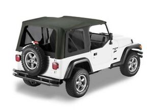 Bestop 79139 01 Jeep Tj Replace a top Sailcloth For Full Steel Doors Black