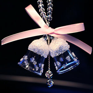 Crystal Car Rear View Mirror Pendant Jewelry Accessories Decor Hanging Ornament