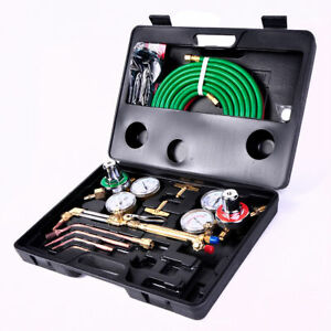 New Gas Welding Cutting Kit Oxy Acetylene Oxygen Torch Brazing Fit Victor W hose