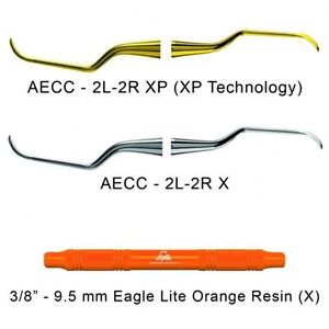 American Eagle Universal Curettes Columbia 2l 2r Orange Resin Handle With Xp