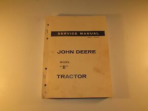 John Deere b Service Manual Sm 2004 Service And Maintenance