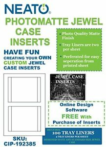 Neato Photomatte Jewel Case Inserts 100 Tray Liners Cip 192385 Online Desig