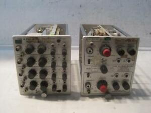 Lot Of 2 Vintage Tektronix Type Ca And Type M Plug In Units parts Repair