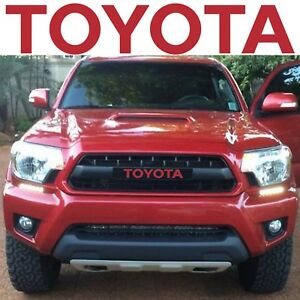 Trd Pro Grille Barcelona Red Vinyl Decal Inserts For 2012 2015 Toyota Tacoma New