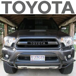 Trd Pro Grille Magnetic Grey Vinyl Decal Inserts For 2012 2015 Toyota Tacoma New