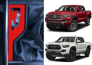 Gloss Red Shift Indicator Vinyl Overlay For 2016 2019 Toyota Tacoma New Usa