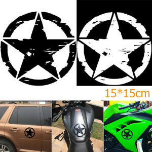 New 15 15cm Army Star Graphic Decals Motorcycle Vinyl Car Styling Car Stickers
