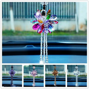 Car Rear View Mirror Pendant K9 Crystal Interior Jewelry Decor Hanging Ornament